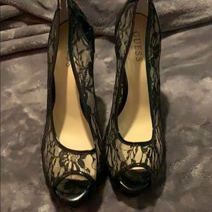 Guess lace black heels